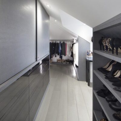 Grey Bespoke Wardrobe