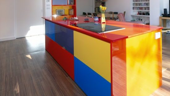 Colorful Fitted Kitchen Furniture